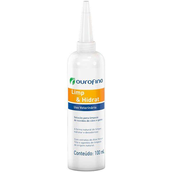Solução Ourofino para Limpeza de Ouvidos Limp e Hidrat em Cães e Gatos - 100 mL