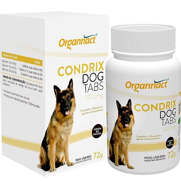 Suplemento Organnact Condrix Dog Tabs com 60 Tabletes 1200mg