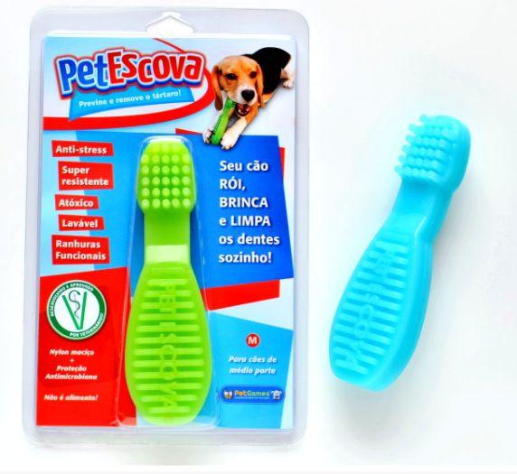 Brinquedo Pet Games Mordedor Pet Escova Cores Sortidas