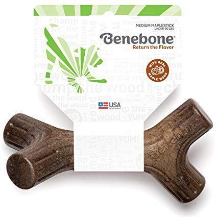 Brinquedo Para Cachorro Roer - Benebone Maplestick Madeira