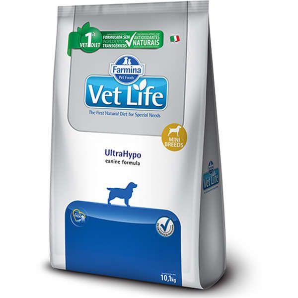 Ração Farmina Vet Life Natural UltraHypo para Cães Mini