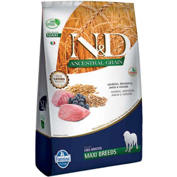 Ração Farmina N&D Ancestral Grain Cordeiro Cães Adultos Raças Grandes