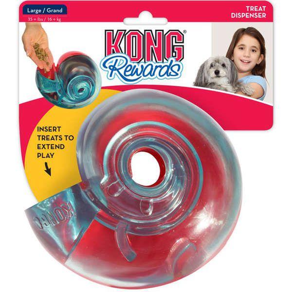 Brinquedo KONG Rewards Shell Azul e Vermelho