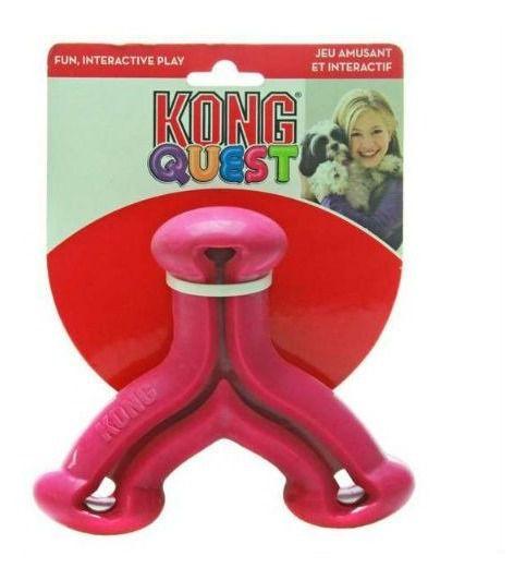 Brinquedo Interativo Kong Quest Wishbone com Dispenser para Petisco – Roxo