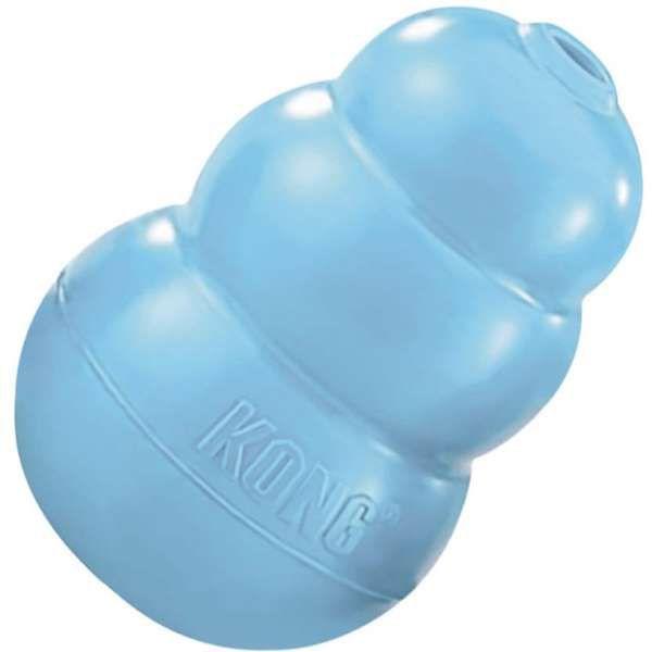 Brinquedo Interativo KONG Puppy com Dispenser de Ração ou Petisco para Filhotes - Azul