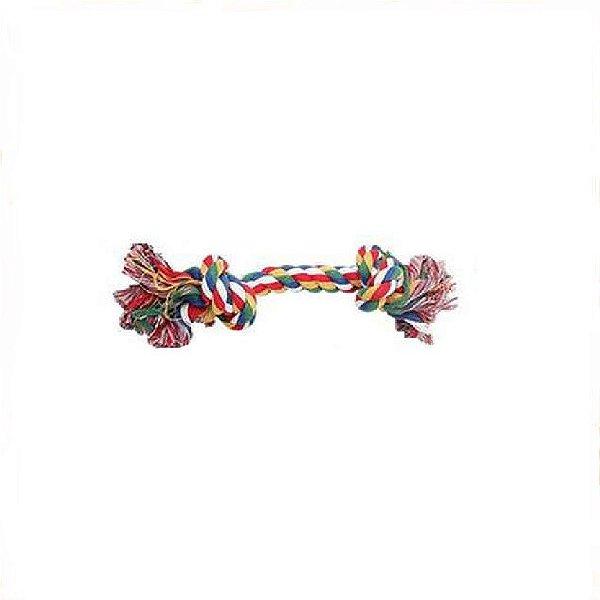 Brinquedo Pawise Corda Desafiada c/ 2 Nós Colorida 18cm