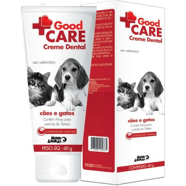 Creme Dental Mundo animal Good Care para Cães e Gatos 60g