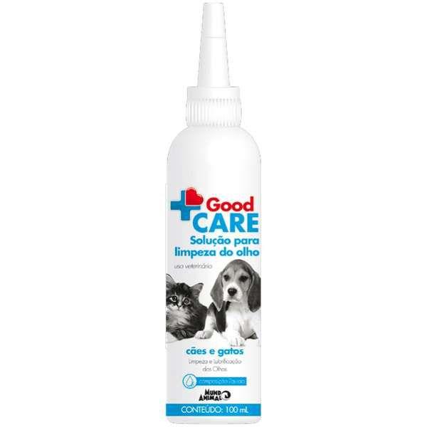 Solução para Limpeza dos Olhos Mundo Animal Good Care para Cães e Gatos - 100 mL
