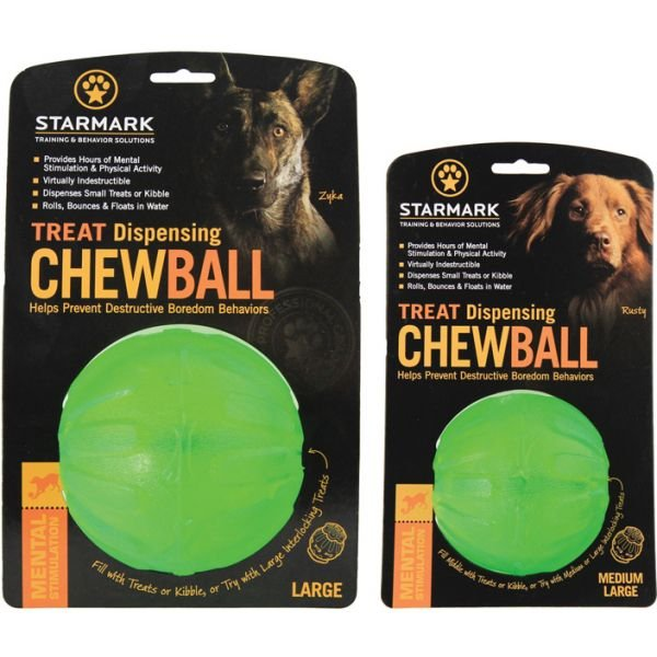 Stamark Tret Dispensing Chew Ball Tough Dog Toy
