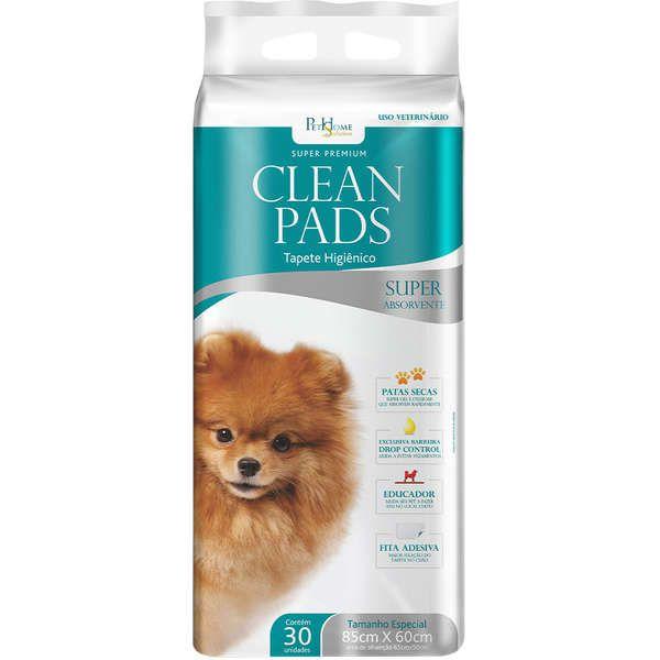 Tapete Higiênico  Clean Pads Super Premium 30 Folhas 85 x 60 cm