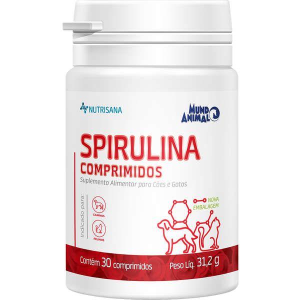 Suplemento Alimentar Mundo Animal Nutrisana Spirulina Comprimidos para Cães 30 comprimidos