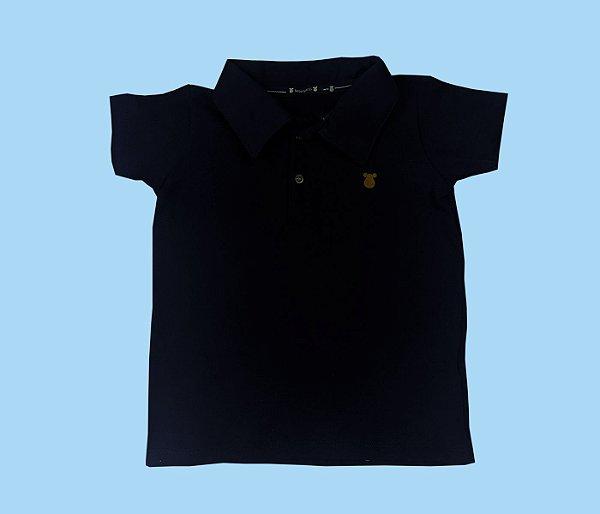 Camisa Gola Polo Cor Azul Marinho