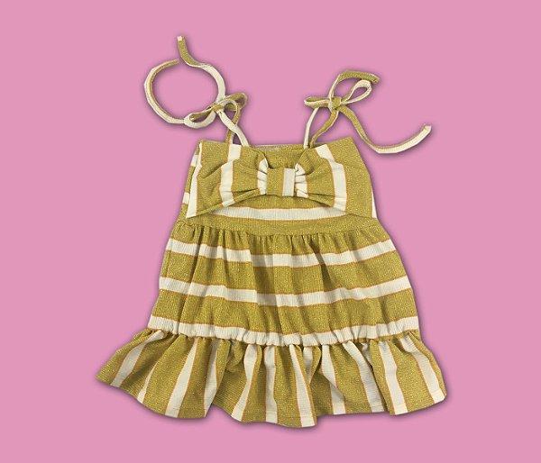 Vestido Canelado Radiance Amarelo