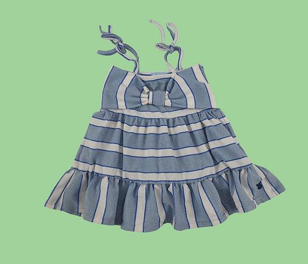 Vestido Canelado Radiance Azul