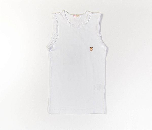 Camiseta Infantil Machão Cotton Cor Branco