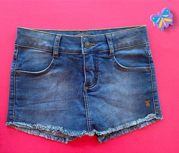 Short Infantil Jeans azul claro