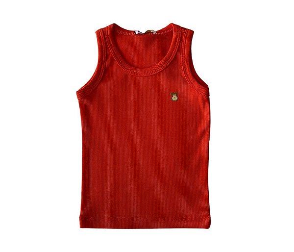 Camiseta Infantil Nadador Malha Canelada Cor laranja