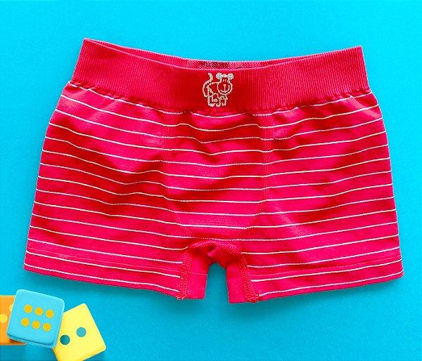 Cueca sem costura infantil básica vermelha