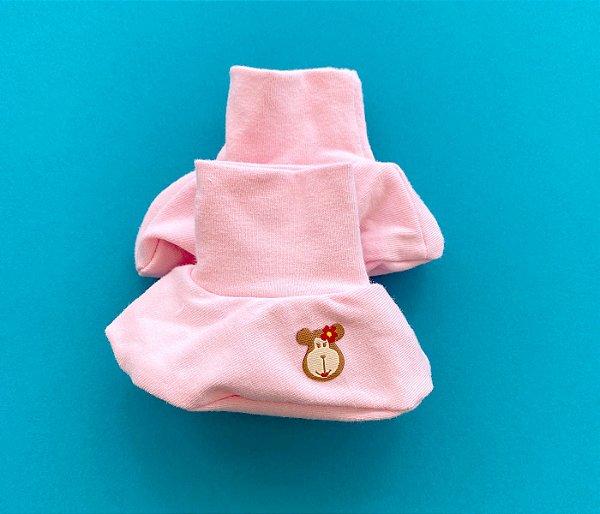 Luvinhas e Pantufas Bebê Cotton Cor Rosa