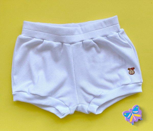 Short Infantil Básico Cor Branco