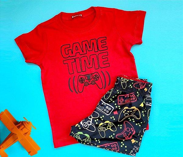 Conjunto infantil básico estampa video game