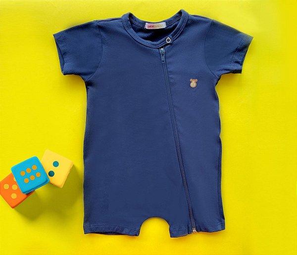 Francês Bebê com Zíper Cotton Azul
