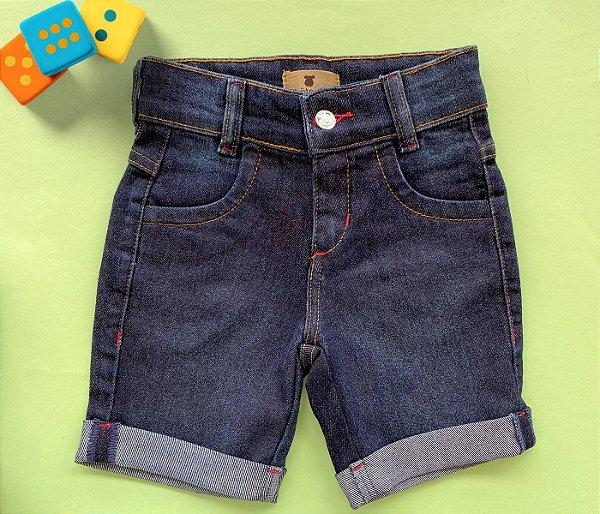 Bermuda Infantil Jeans Escuro