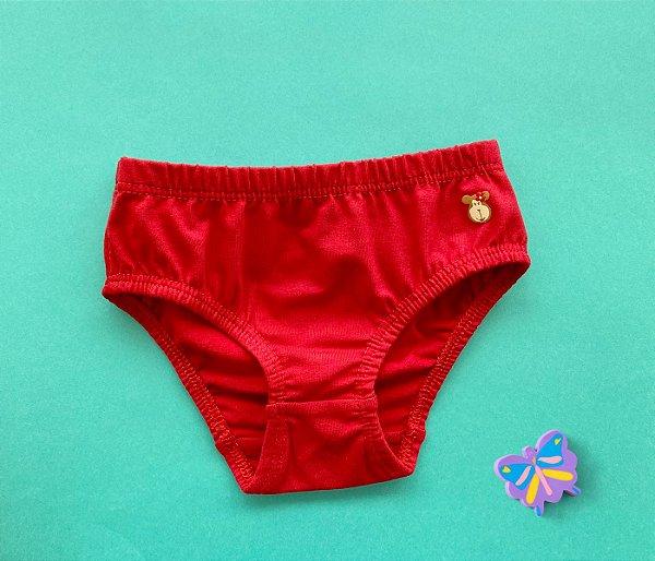 Calcinha Infantil Cotton Cor Vermelho