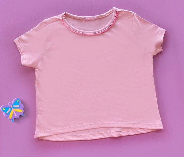 Blusa infantil básica Rosa