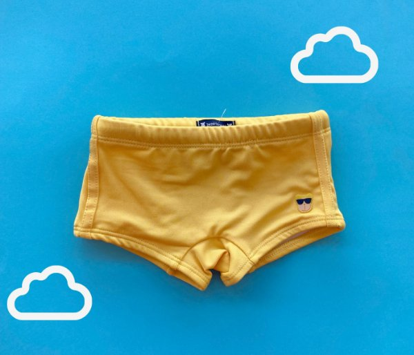 Sunga Infantil Malha de Proteção Cor Amarelo