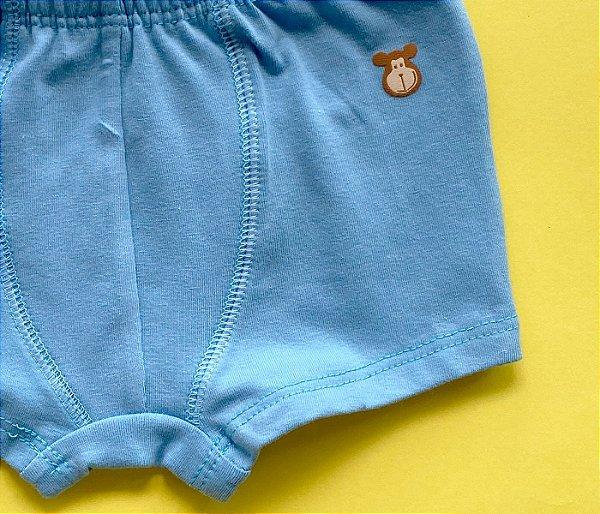 Cueca Cotton Azul