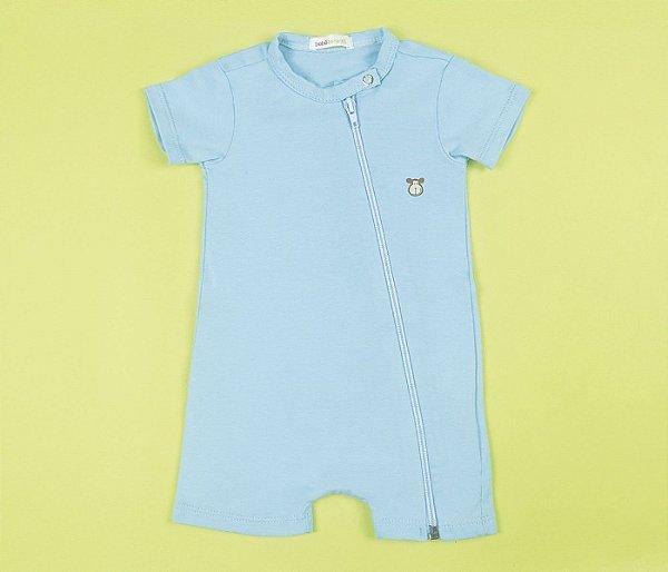 Francês Bebê com Zíper Cotton Verde Claro
