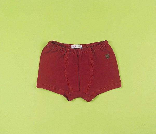 Cueca box Cotton infantil básica vermelha