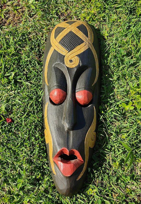 Máscara Indonésia Guardião Madeira