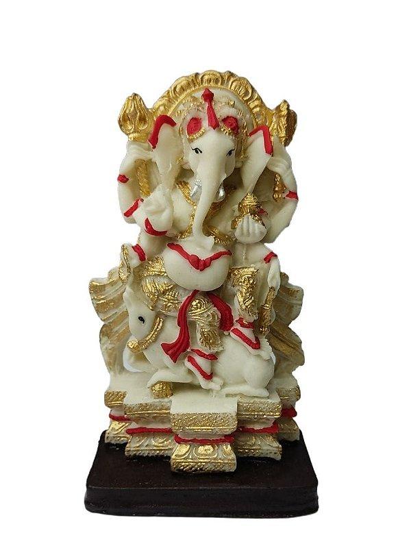 Ganesha na Poltrona Resina 14 cm