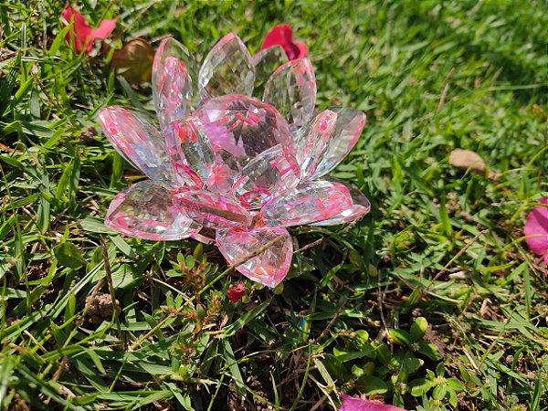 Flor de Lotus Vidro Multifacetado