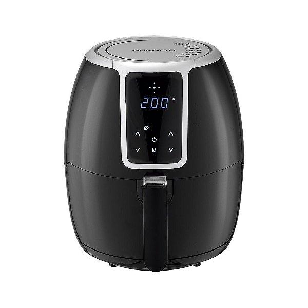 Fritadeira Elétrica Air Fryer Digital Supremma 3,6L Agratto Preta