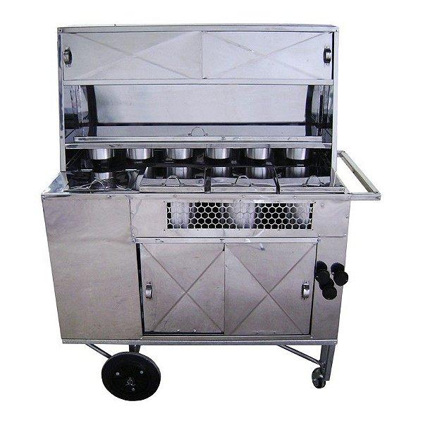 Carrinho de Hot Dog A GAS Com Caixa Termica