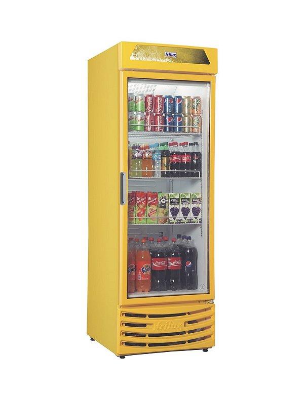 Expositor vertical visa cooler com led porta de vidro 550 lts rf 005 +2 a +8