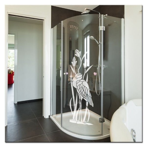 Adesivo jateado Garça 6  1,70x0,60 cm