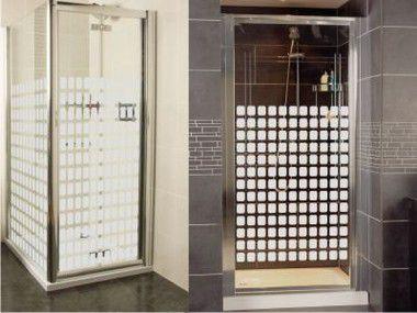 Adesivo jateado fosco quadriculado 100x100 cm (1 m²)