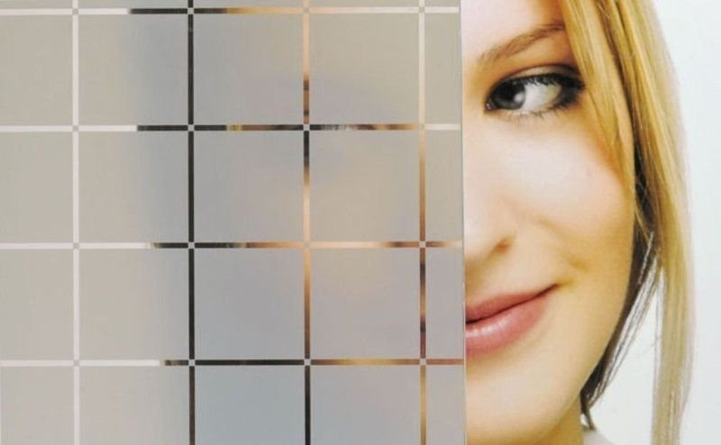 Personalizado - Adesivo Jateado - Quadriculados - (100x130 cm)