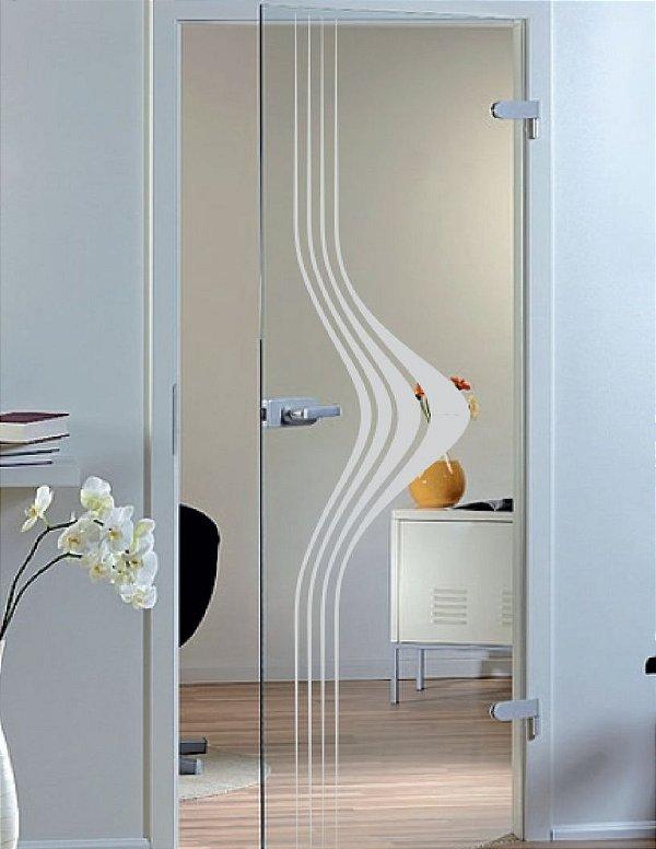 Adesivo jateado riscas - 55 cm larg. X 2,15 alt. (serve para qualquer porta ou janela)