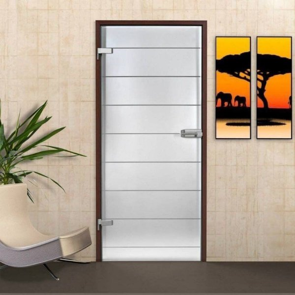 Adesivo jateado faixas Altura 214 x  Largura de 100 cm