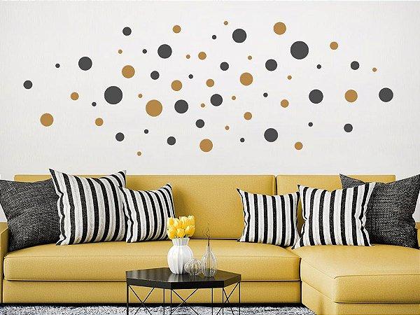 Adesivo de parede - Círculos Preenchidos