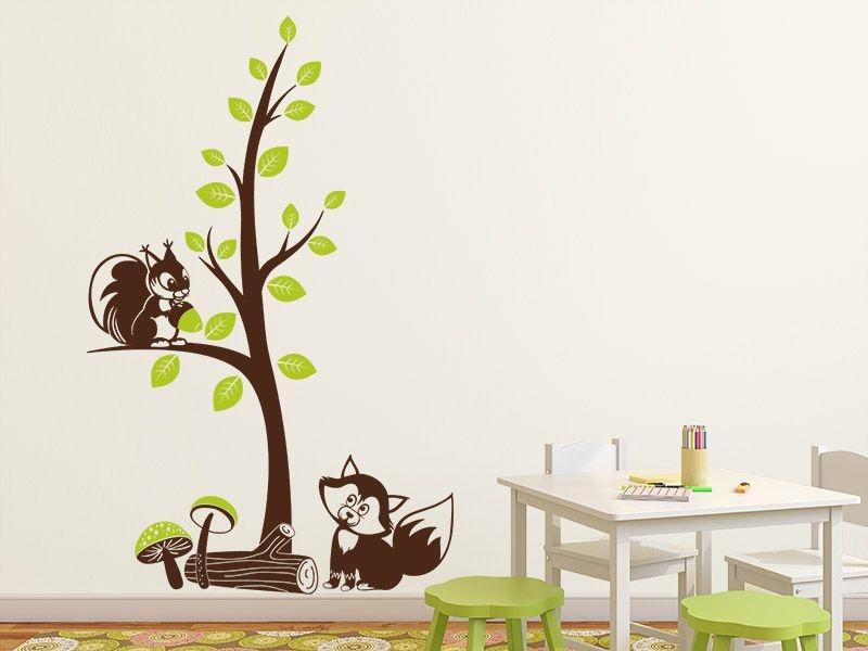 Adesivo de parede - Esquilo na Árvore