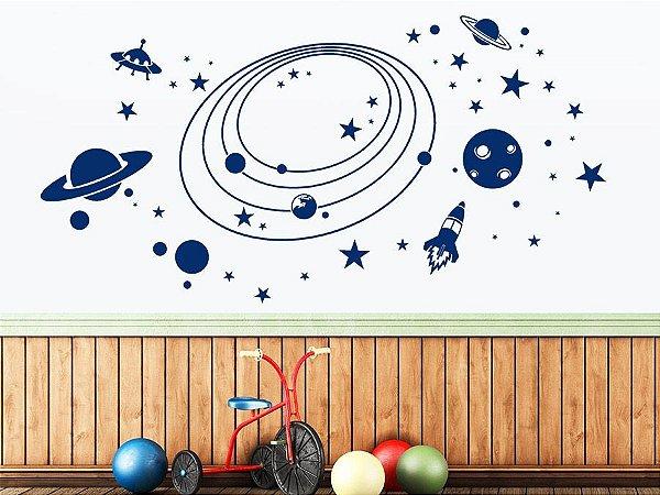 Adesivo de parede - Galáxia