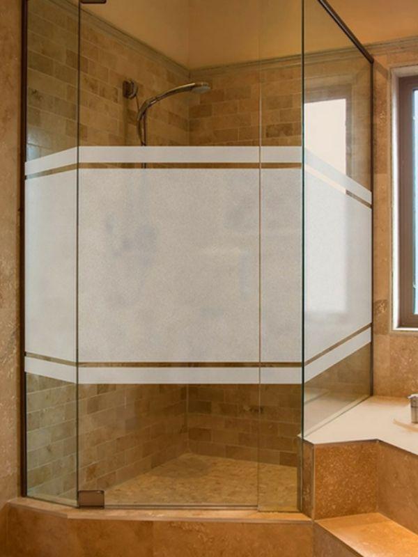 Adesivo Jateado Para Portas, Janelas, Box e Divisórias de Vidro Larg. 130 e Altura 90 cm