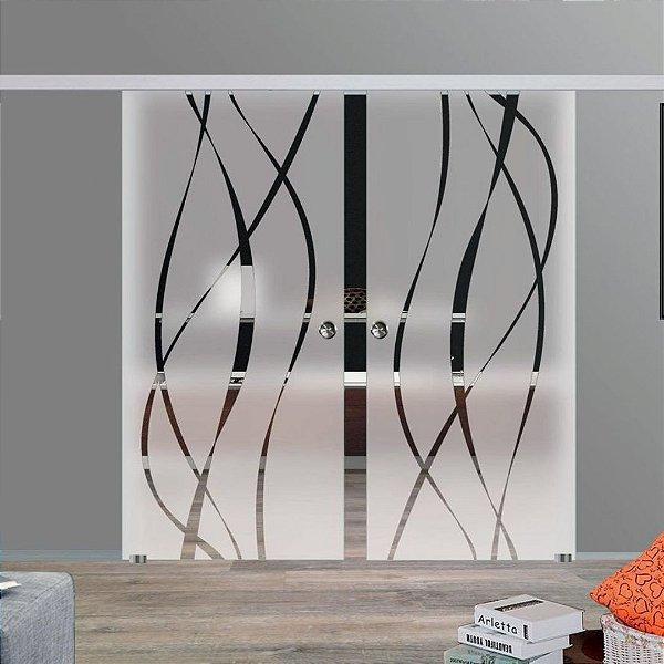 Adesivo decorativo jateado 210x100 cm