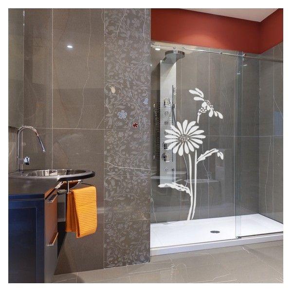 Adesivo decorativo Jateado - Girassol 4  - 100x045 cm